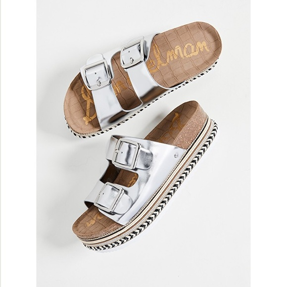 980c31f8ac8e Sam Edelman Oakley platform sandal slides. M 5bf89bbadcfb5a18662aca0f